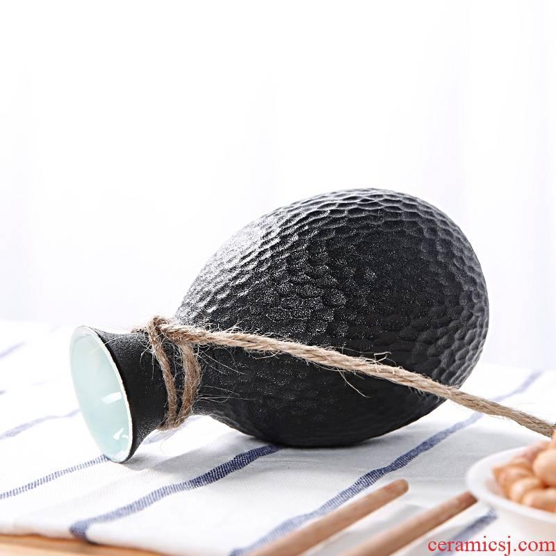 Qiao mu ceramic wine suits for Japanese wine liquor tell little hip hip liquor half jins of cellular flagon of wine