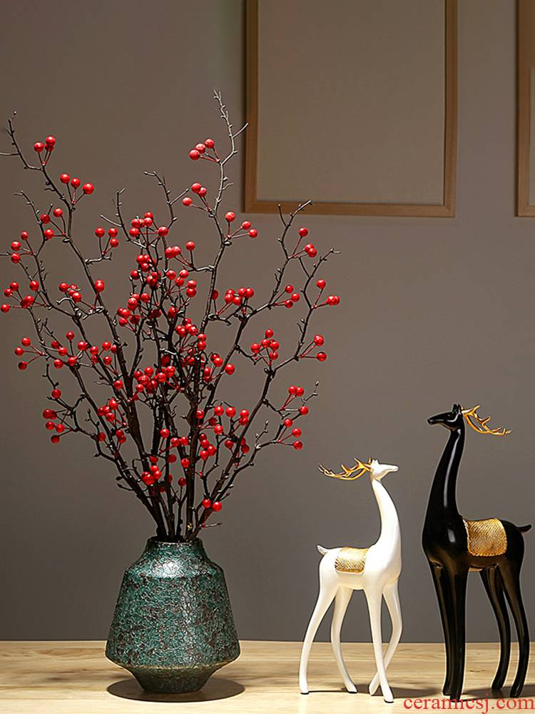 Jingdezhen ceramics vase manual creative new Chinese style western - style porch sitting room adornment dried flower arranging flowers is placed