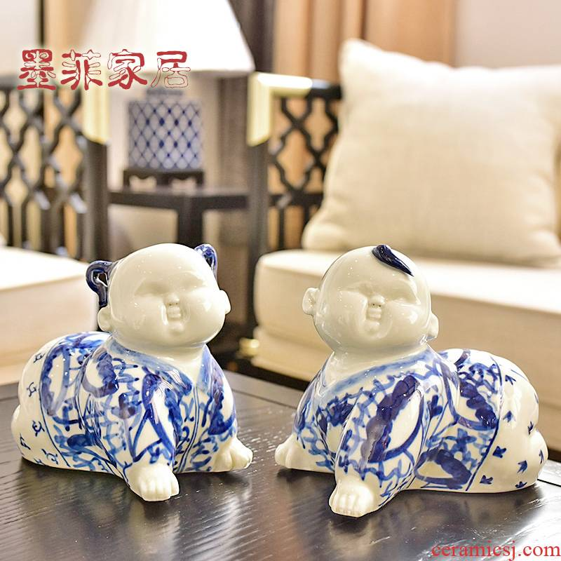 Jingdezhen porcelain its porcelain doll, furnishing articles rich ancient frame of new Chinese style household act the role ofing is tasted, the sitting room decorate a housewarming gift