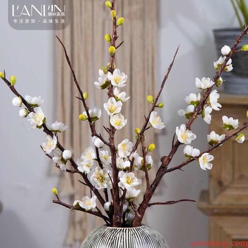 Squid Simulation flowers xiaomei fake plastic flowers wintersweet dried cuttlefish zen ceramic vases, flower arranging put decorations
