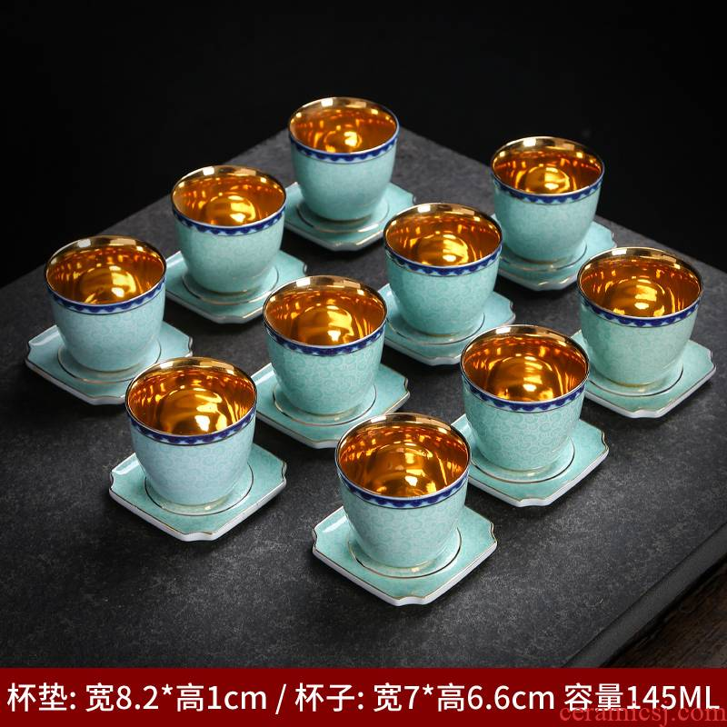 Blue and white porcelain cup sample tea cup large ceramic kung fu tea tea cup single cup beer individual cup masters cup