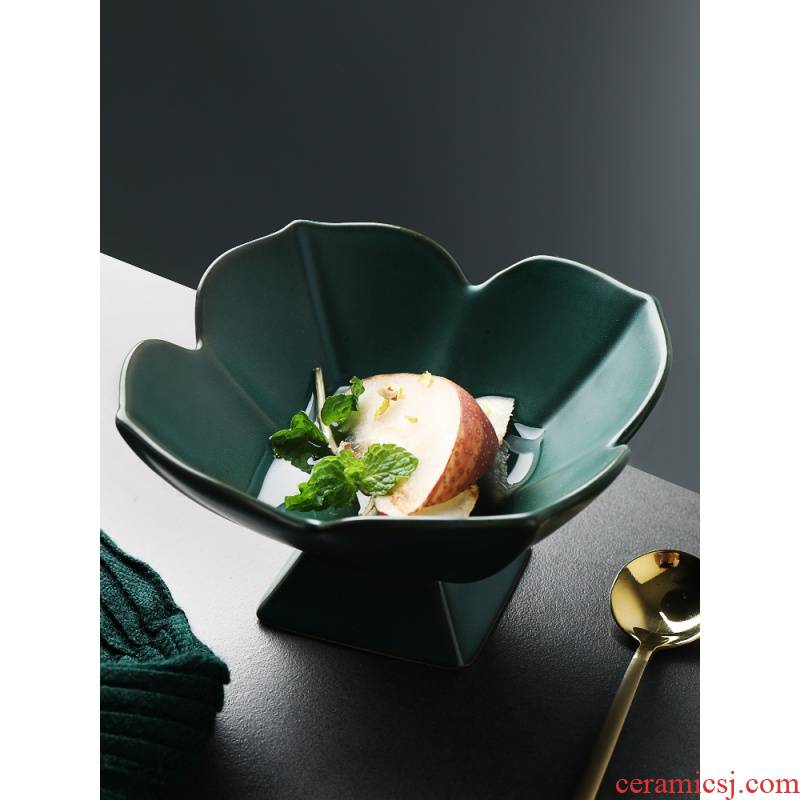 Half room Japanese coarse pottery tea tray petals high light, the mini afternoon tea snacks side dishes dessert bowl