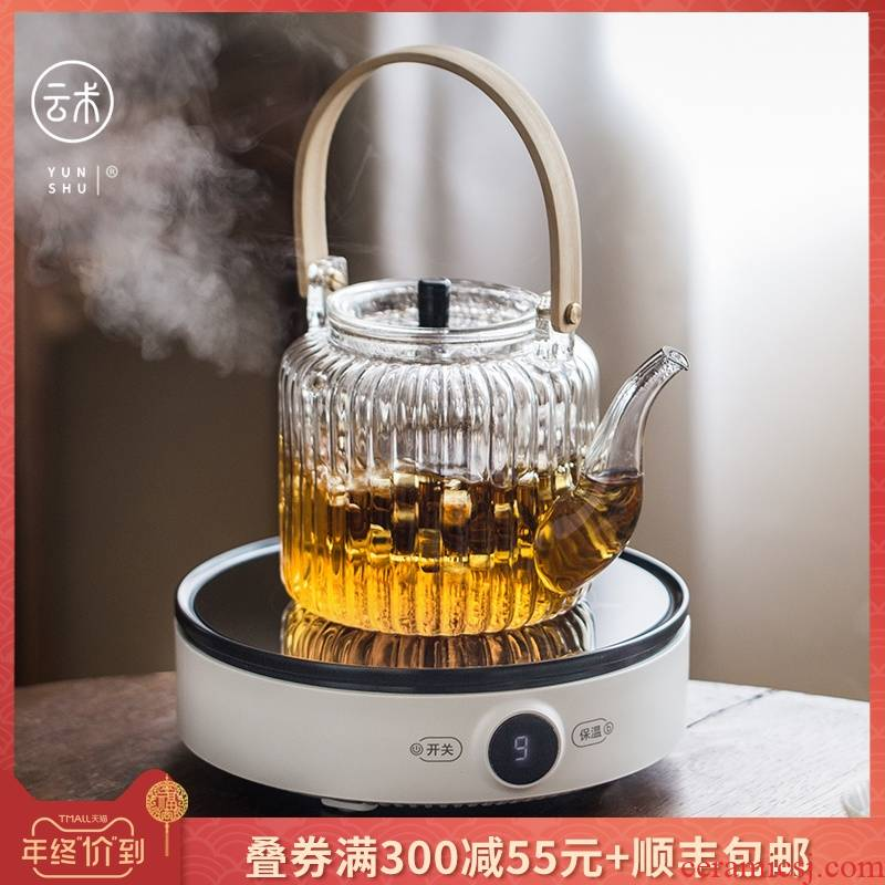 Smart touch the electric TaoLu boiled tea.mute tea stove glass POTS, mini home silver pot of ceramic POTS boil tea POTS