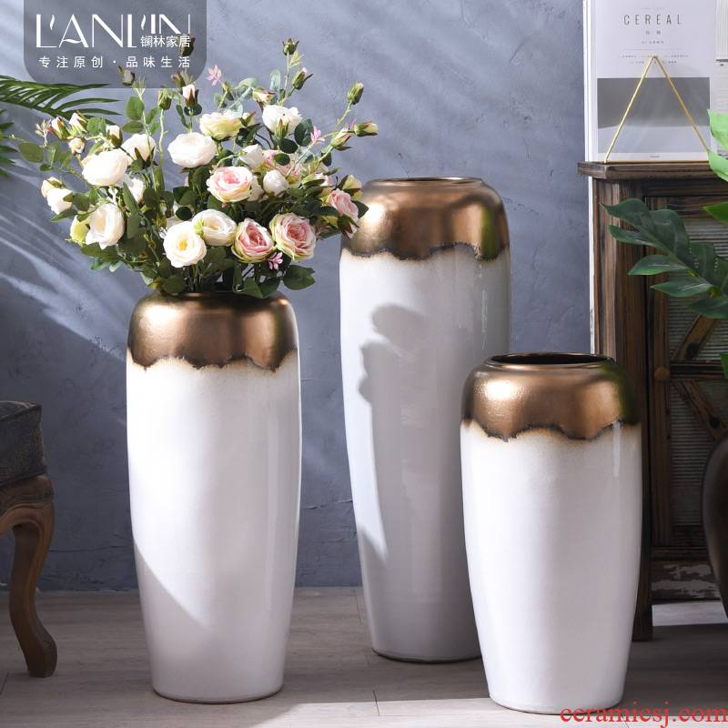 I and contracted ceramic floor large vase flower arranging dried flowers sitting room home decoration furnishing articles TV ark, furnishings