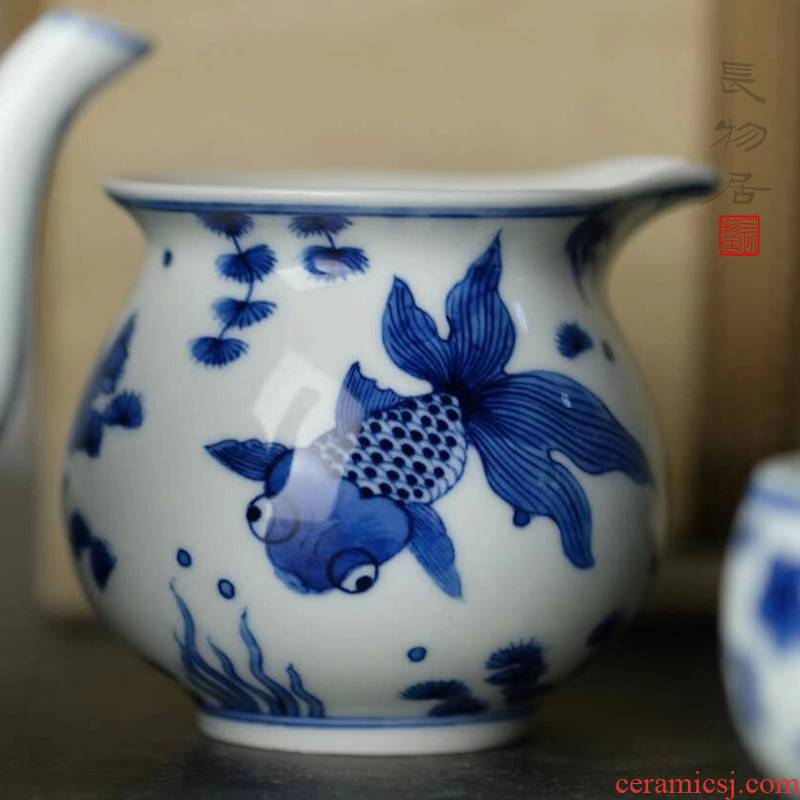 Offered home - cooked view flavour and hand - made porcelain goldfish in jingdezhen points tea fair keller, ceramic tea set