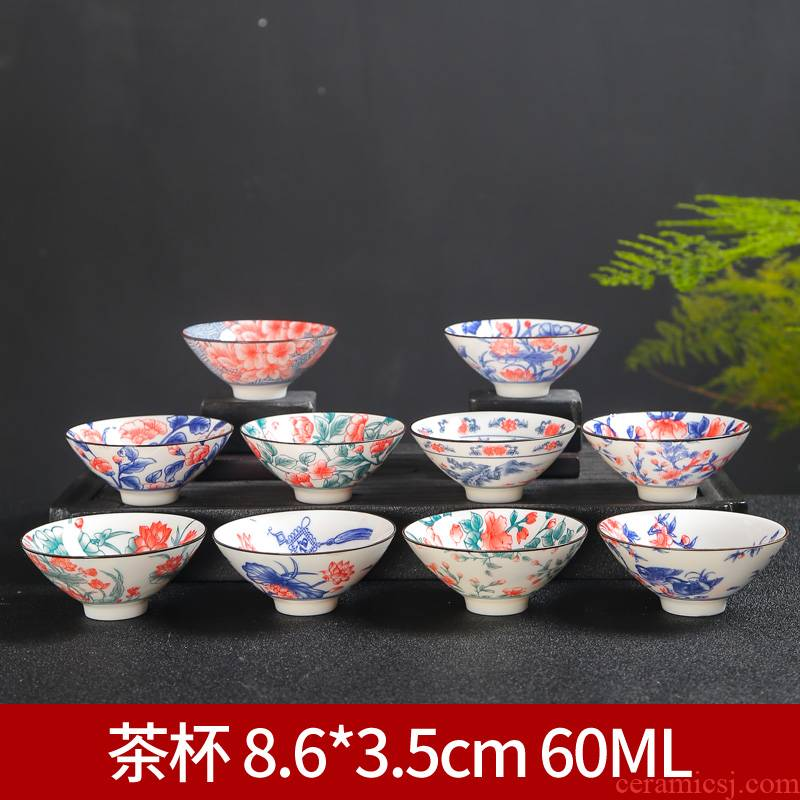 Blue and white porcelain ceramic cups kung fu small single CPU master cup tea sets tea cups at upstream bowl tea cup