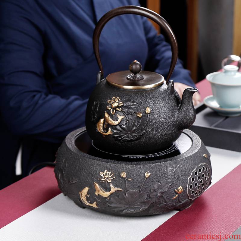 Iron pot of cast Iron tea machine electricity TaoLu boiled tea stove teapot suit small.mute Japan kettle home by hand