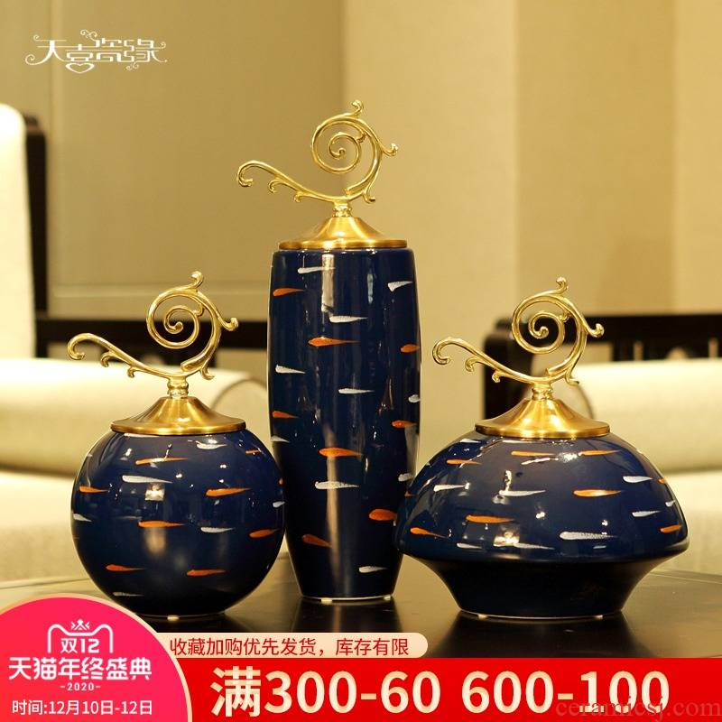 Modern American light much creative ceramic decoration vase, the sitting room porch ark, TV ark, home furnishing articles