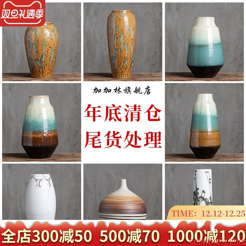 Gagarin analyzes ceramic floret bottle of dried flowers flower arrangement home decoration desktop furnishing articles hydroponic checking tea flowers