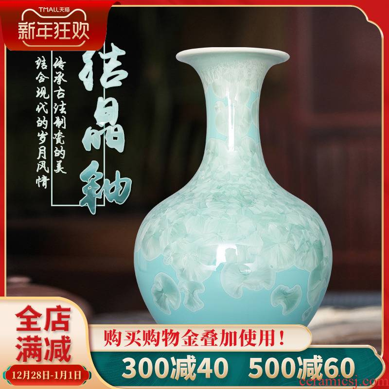 180 jingdezhen ceramic color glaze colorful crystal vase modern fashion crafts home decoration items