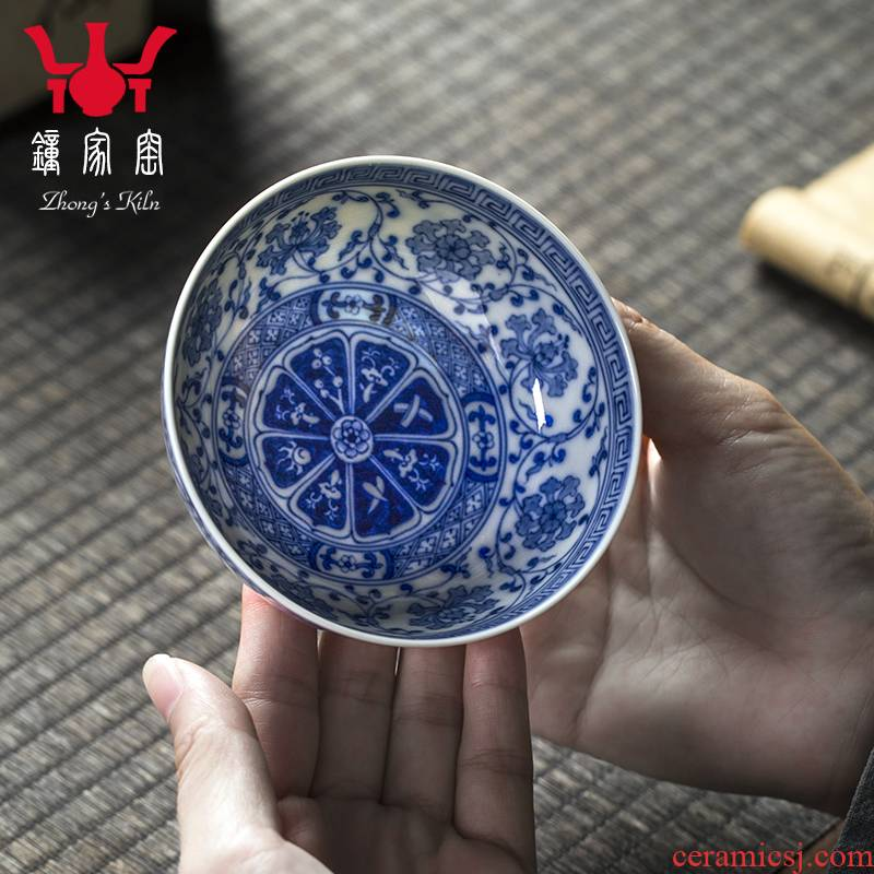 Clock home up porcelain maintain single cup cup kung fu tea master cup sample tea cup around branches of jingdezhen ceramic tea set