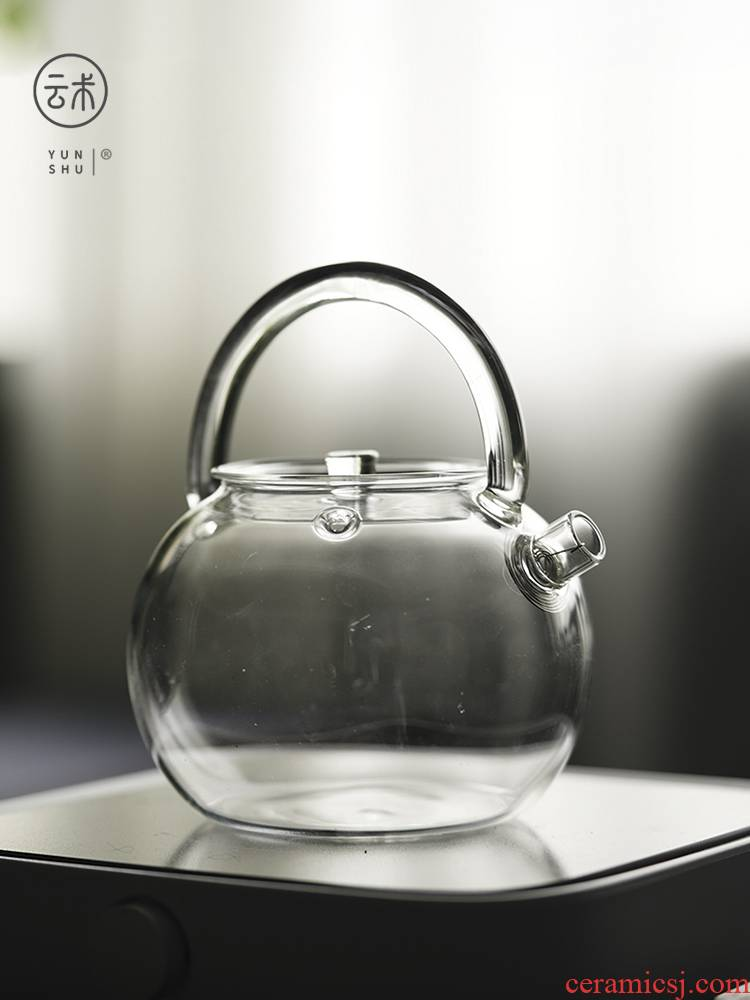 The Heat - resistant glass teapot high - temperature single pot can be heated to boil tea household electric TaoLu teapot kung fu tea set