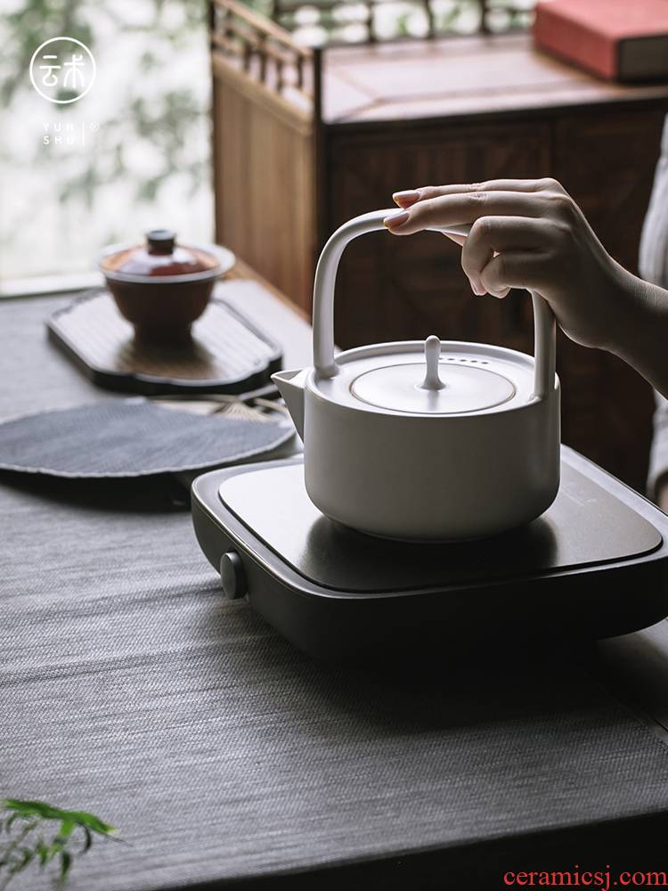 Cloud (coarse pottery kettle household electrical TaoLu boiled tea ware ceramic kung fu tea teapot single pot teapot