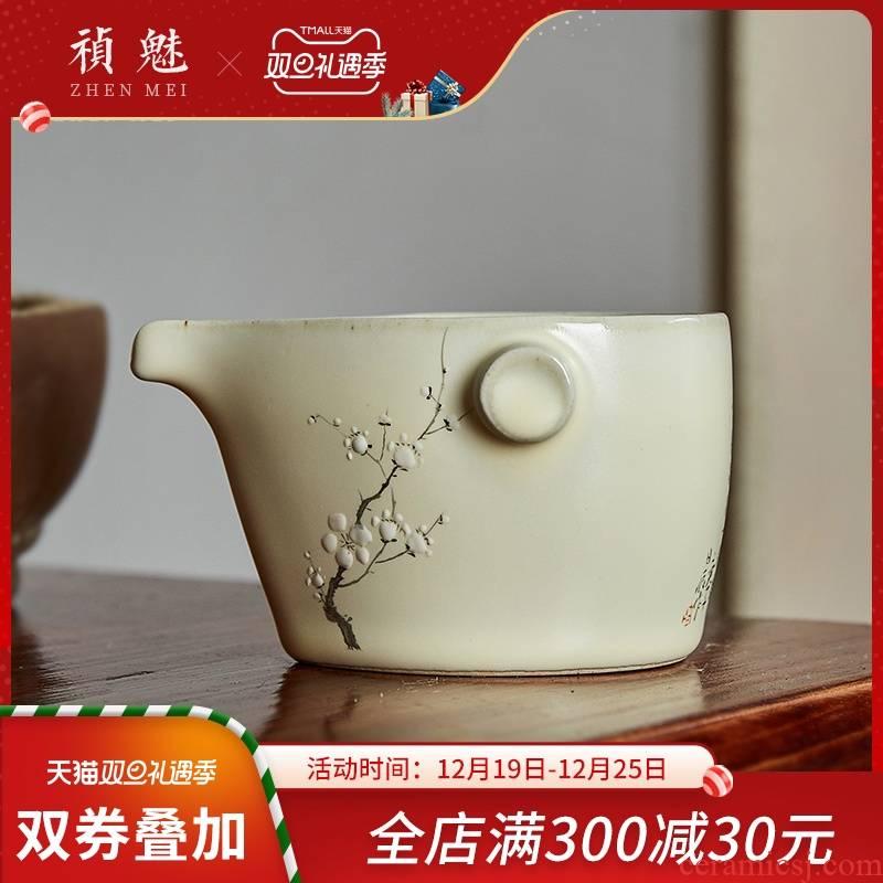Shot incarnate your up hand - made name plum jingdezhen ceramic fair keller kung fu tea accessories imitation hot tea sea points