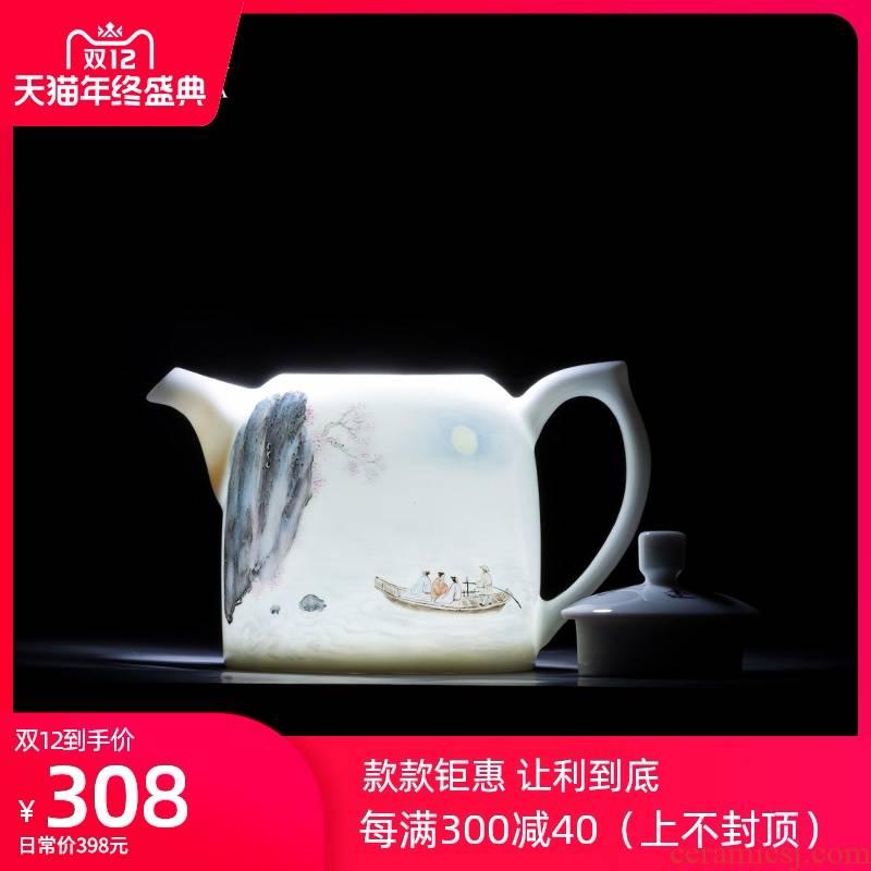 Holy big teapot hand - made ceramic kung fu new see colour literary teapot teapot single pot all hand of jingdezhen tea service