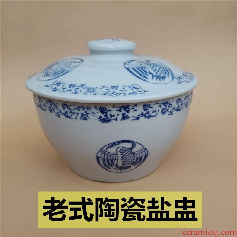 Household ceramics micro defects old salt dish condiment jar of sauce seasoning bottle box of oil tank salt shaker bowl tub