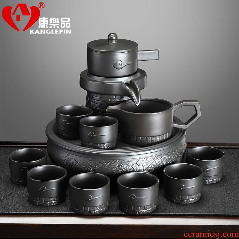 Recreational product violet arenaceous stone mill automatic tea sets a visitor office tea domestic high - end lazy - a complete set of the teapot