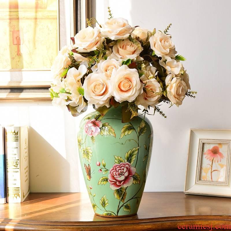 European ceramic vases, flower arranging American TV ark, wine restoring ancient ways furnishing articles, the sitting room porch simulation flower, dried flower decoration