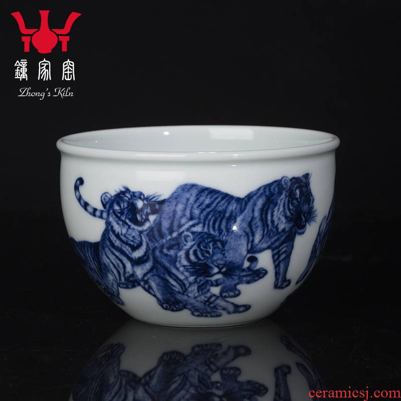 Clock home up personal appropriation porcelain cups master cup single CPU jingdezhen porcelain wufu maintain kung fu tea cups