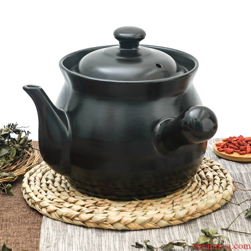 Tisanes casserole household high - temperature gas flame ceramic pot boil medicine Chinese medicine keeping in good health small casserole Tisanes pot of stew