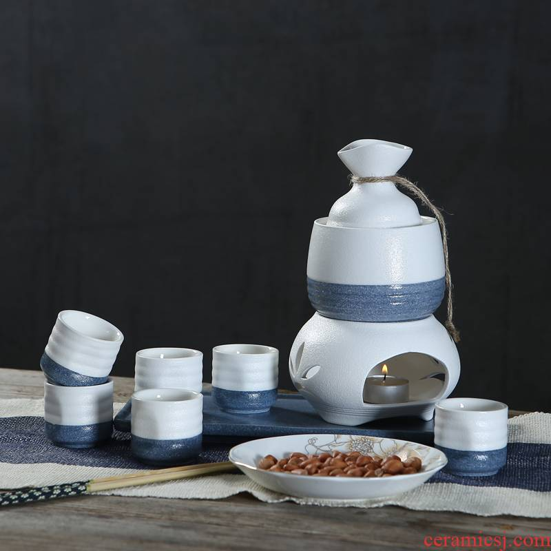 Japanese ceramics and wind clear wine package rice wine warm wine wine liquor cup a cup of household temperature wine pot points