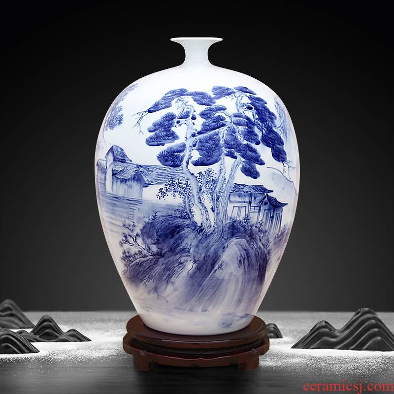 New Chinese style hand - made porcelain of jingdezhen ceramics bottle handicraft furnishing articles sitting room porch opening gifts