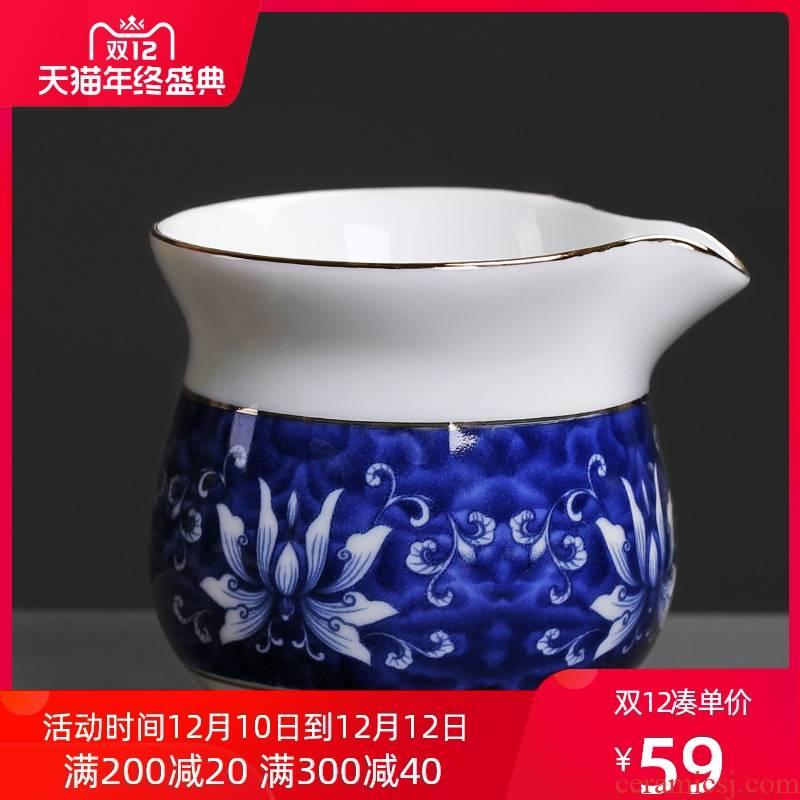 Blue and white porcelain ceramic fair keller lotus creative move antique tea is tea tea points home and a cup of tea cups