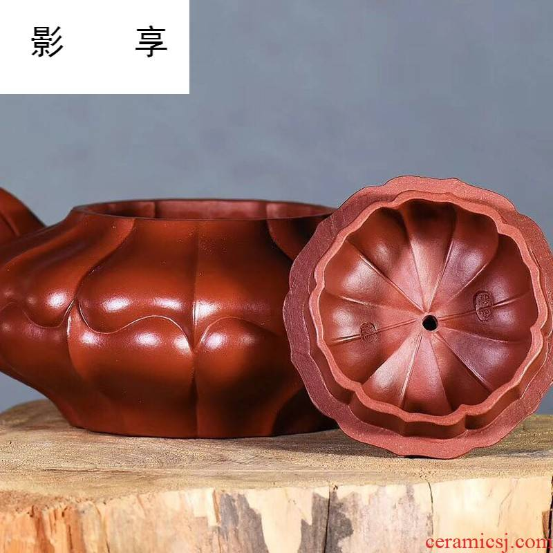 Shadow at yixing are it by checking undressed ore dahongpao ling teapot gift tea set 350 cys