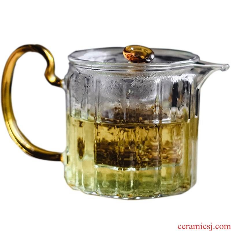 Manual heat - resistant glass teapot single pot of domestic high temperature resistant filter electric TaoLu boiled tea, Japanese tea set