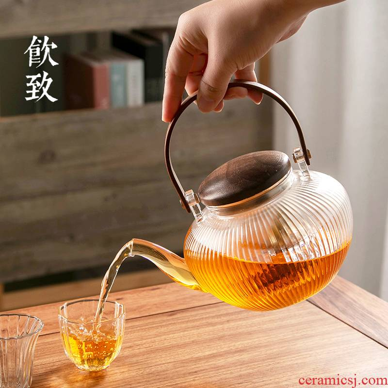 Ultimately responds to suit glass tea kettle teapot tea stove household girder pot of intelligent electric TaoLu special - purpose boiled tea