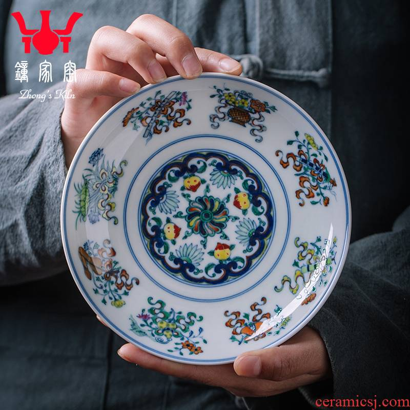 Clock home up of blue and white wood color maker bearing hand - made manual it Joe doing mercifully pot bearing kung fu tea set of the accessories