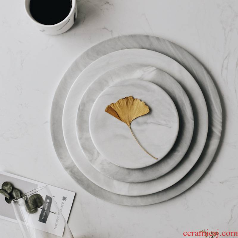 Afternoon tea light key-2 luxury marble tray ceramic plates heart plate of dish food dish dish dessert pastry dish