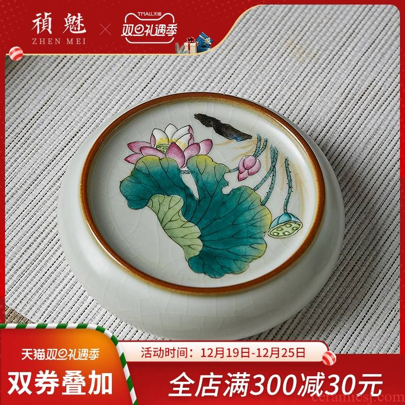Cover shot incarnate your up hand - made lotus kung fu tea cup jingdezhen ceramics fittings on the saucer pot of bearing