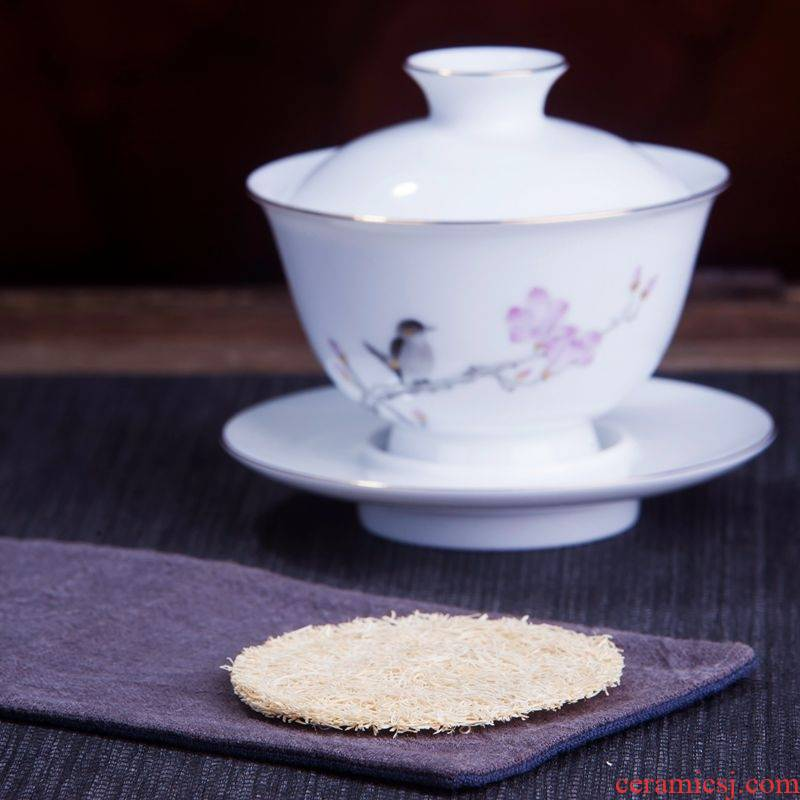 Pure natural loofah sponge pad a pot of as are it coasters tea wear accessories checking kung fu tea set