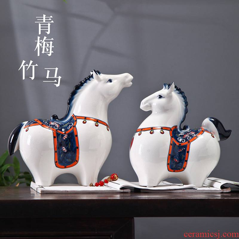 Creative household adornment small ceramic furnishing articles furnishing articles wine ark of desk move decoration is I and contracted sitting room