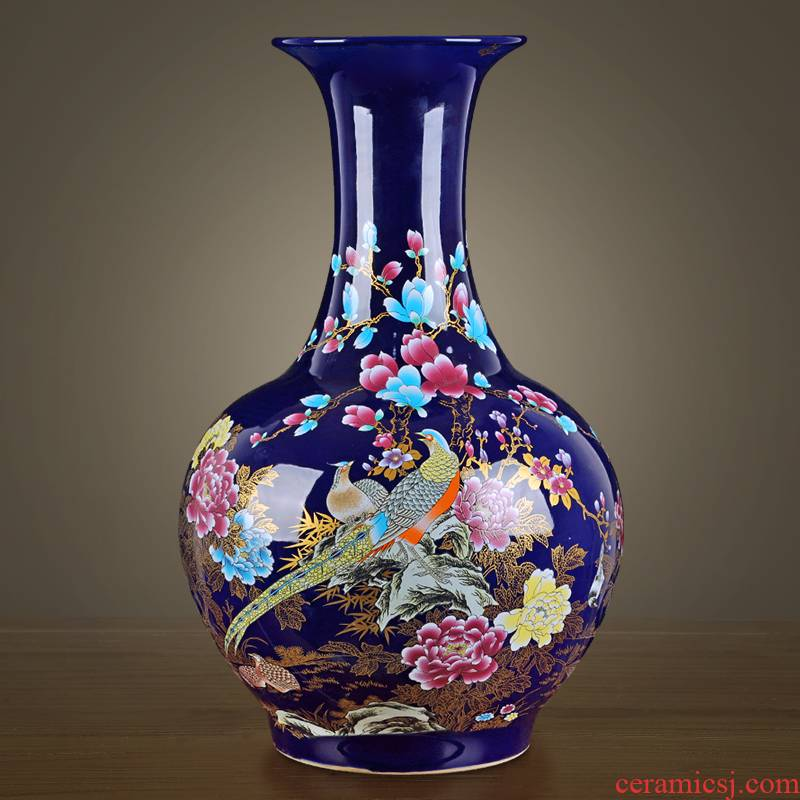 Jingdezhen vases, pottery and porcelain landing large new Chinese style household flower arrangement sitting room adornment TV ark, furnishing articles