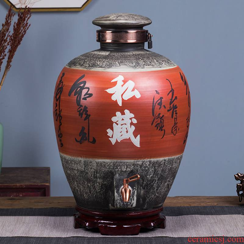 Jingdezhen ceramic jars to save it home 20 jins 50 kg sealed empty wine bottle wine dedicated wine jars