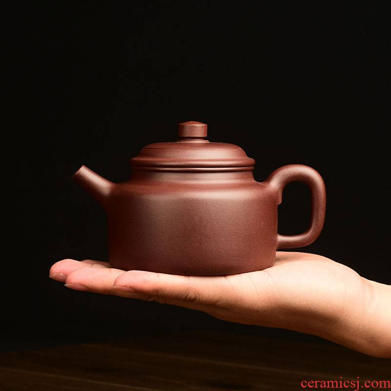 Shadow at yixing it undressed ore purple clay hand made kung fu tea set clock home teapot large capacity 320 cys