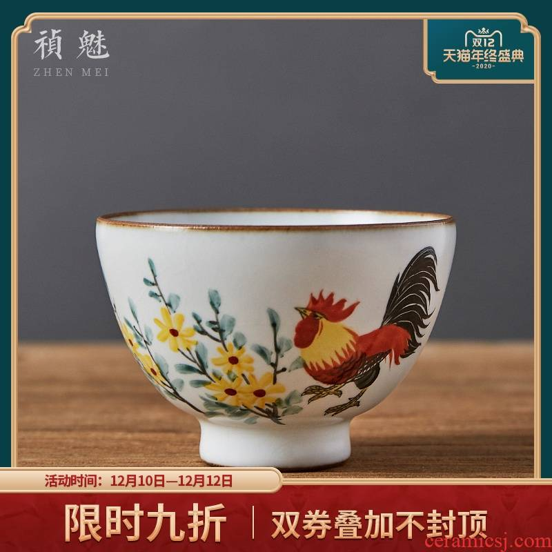 Shot incarnate your up hand - made cock open piece of jingdezhen ceramic kung fu tea set personal single sample tea cup cup masters cup