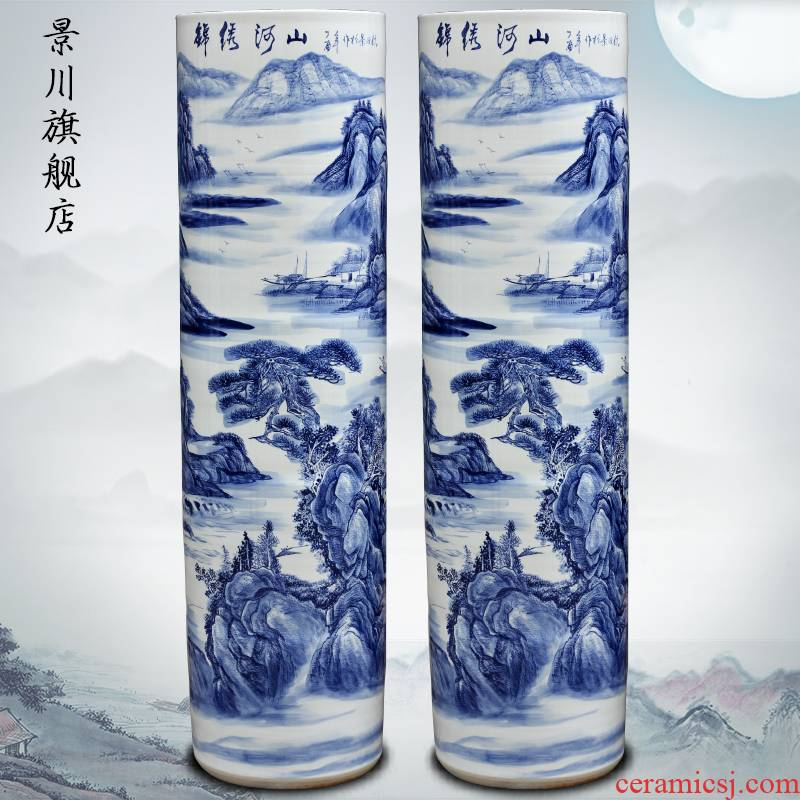 Hand - made splendid sunvo landing quiver of jingdezhen ceramic vase furnishing articles furnishing articles hotel shops hall act the role ofing is tasted
