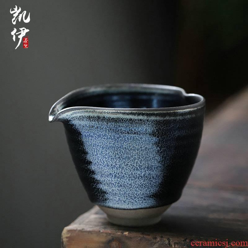 Li Gaohua built light blue kirin manual pour cup making up tea set a single and a cup of tea ware ceramic fair keller