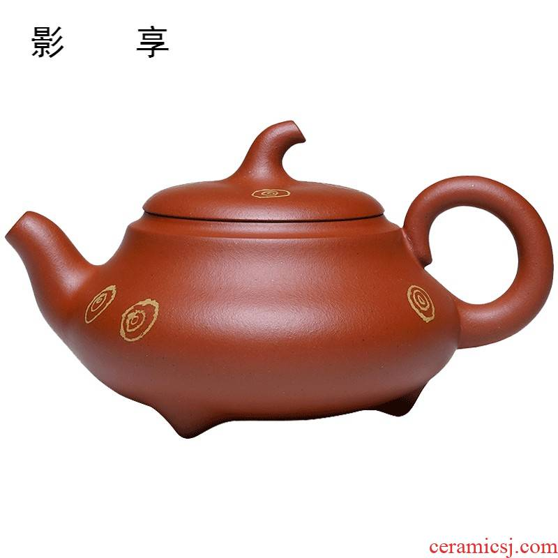 Shadow at it yixing teapot famous Wang Qiping gold ore little red mud beigua checking pot of tea
