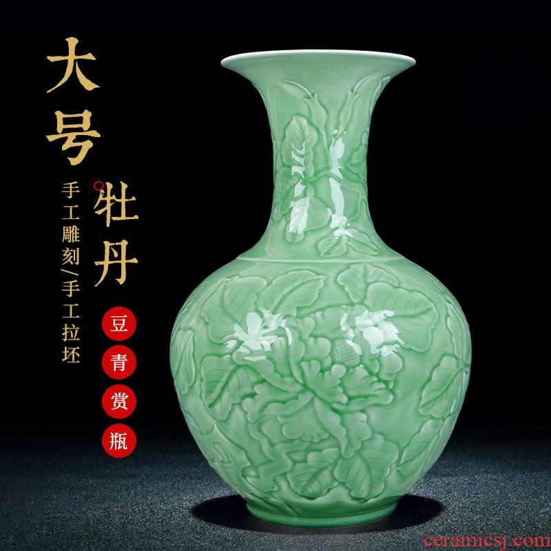 Jingdezhen ceramic vases, Chinese style manual its villa hotel, high - grade home sitting room adornment handicraft furnishing articles