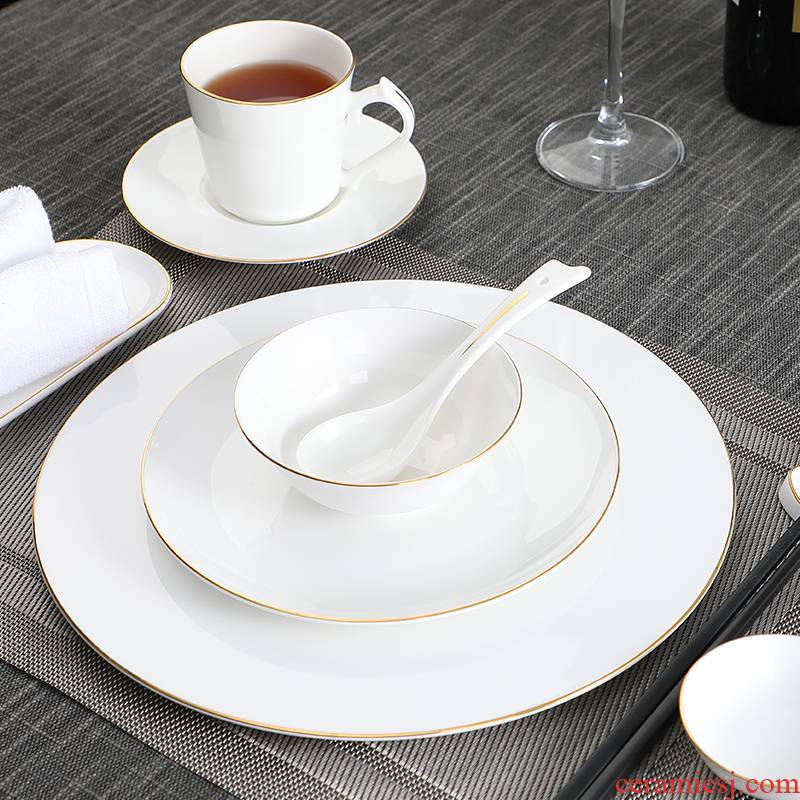 Hotel supplies ceramic Chinese style up phnom penh Hotel high - grade ipads China tableware to suit the club box unit ltd. company