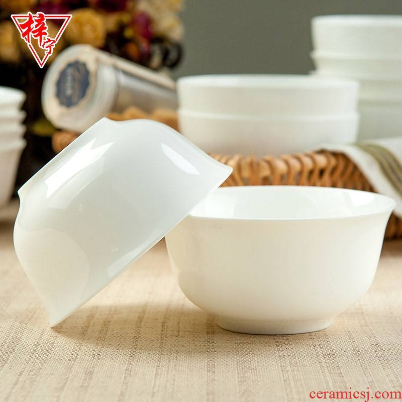 Tangshan hotel white ipads China household ceramics tableware suit small bowl of soup bowl rainbow such as bowl to eat rice bowls