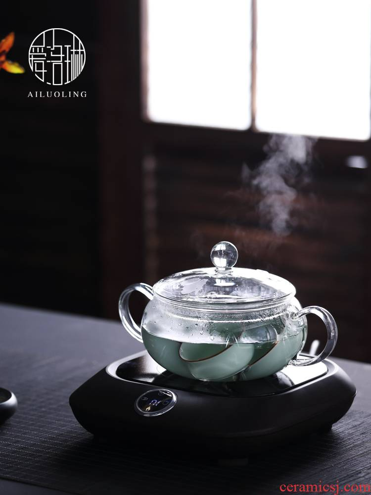 Shadow enjoy tea accessories electric TaoLu boil disinfection cups tea wash pot heating glass flat glass wash basin bowl with AL