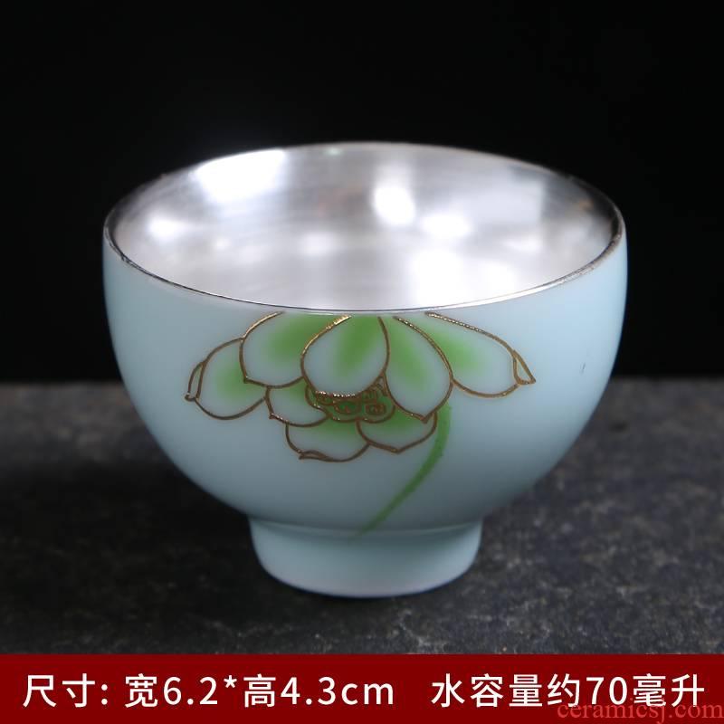 Master cup a single cup of jingdezhen ceramic cups kung fu tea set celadon small sample tea cup tea pu - erh tea accessories