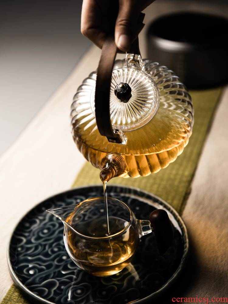 High temperature resistant glass pot girder make tea kettle electric TaoLu special heat - resistant tea sets clay POTS to boil tea home