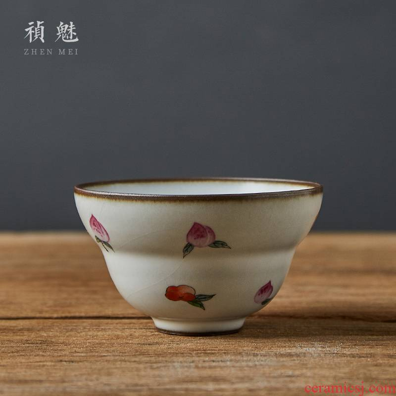 Shot incarnate the jingdezhen ceramic your up hand - made count cup kung fu tea set personal sample tea cup masters cup open for