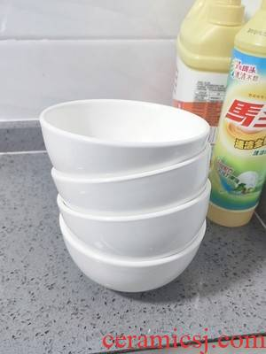"8 ""white large soup bowl ceramic household soup pot of boiled fish bowl bowl mercifully rainbow such always pull rainbow such use deep bowl for the job"